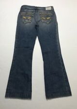ROBINS JEAN Women 28x29 GOLDEN STAR Flare Jeans *MADE IN USA*