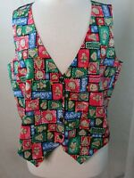 BASIC HOLIDAY EDITION Womens Christmas Holiday Vest, Size L, Light Weight, F509
