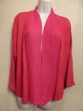 Windsmoor Large UK16-18 EU44-46 US12-14 pink 3/4 sleeve silk trim cardigan