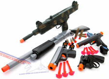 5x Toy Guns Pump-Action Shotgun Lg UZI Rifle & 2x 9MM Dart Guns Revolver Cap Gun
