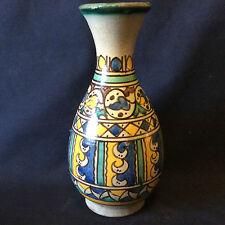 Céramique marocaine Meknès vase ovoïde col évasé1ère moitié XXème AL- MAGHRIB
