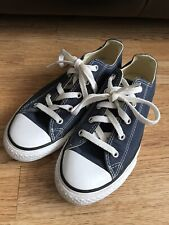 Converse All Star Unisex Navy Trainers Shoes Size Junior Uk 2, EUR 34
