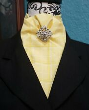 Stock Tie Yellow Plaid Contour (Pin is not included)