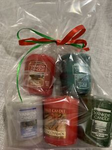 5pc Yankee Candle Christmas Scents Votive Assorted Gift Bag #8 New Ships Free