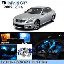 7pcs Bright Ice Blue Interior LED Light Package Kit For 2009-2014 Infiniti G37