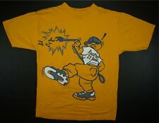 Rare VTG CNYC Urban Wear Keepin' It Real Bulldog T Shirt 90s Hip Hop Yellow SZ L
