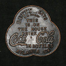 Coca Cola Betty Says This drink is on the House Atlanta GA Token / Medal
