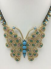 "Betsey Johnson ""Boho"" Crystal & Stone Butterfly Necklace $85 New BH-7"