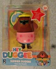 """Hey Duggee - Summer Duggee 3"""" Figure Includes Castle Badge Visits the Beach! New"""