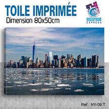 80x50cm - TOILE IMPRIMÉE - TABLEAU MODERNE DECORATION MURALE - NEW YORK - NY-09T