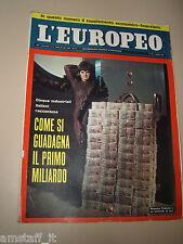 L'EUROPEO=1966/15=ROSSANA PODESTA=RUDOLF NUREYEV=AGATHA CHRISTIE=IRA FURSTENBERG