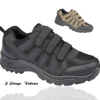 MENS TRIPLE TOUCH STRAP SPORTS HIKING TREKKING TRAINER SHOES BOOTS SIZE UK 7-10
