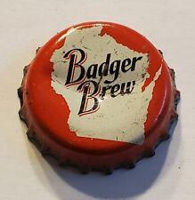 Badger Brew Cork Lined Bottle Cap - Effinger Brewing Co - Baraboo, Wi - Used