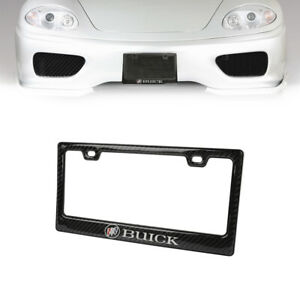 1PC Real Carbon Fiber Glossy License Plate Frame for BUICK