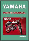 YAMAHA Parts Manual G6S G6-SB G6S-B 1970 1971 Spares Catalog List FS1