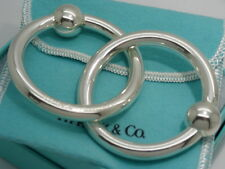 Tiffany & Co. Sterling Silver Brand New Double Ring Baby Rattle in Pouch & Box