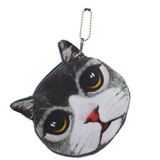 Lux Accessories Cat Face Kitten Cat Pet Animal Novelty Wallet Change Coin Purse