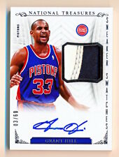 2013-14 National Treasures Grant Hill Sneaker Swatches Shoe Patch Auto (03/60)