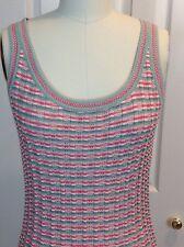 EUC ST JOHN SPORT Short Sleeve Knit Top Cami Shell Size Small
