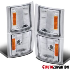 For 1994-1998 Chevy C/K 1500 2500 Silverado Suburban Tahoe Clear Corner Lights
