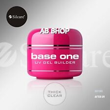 Base One Clear 50g UV Gel Nails Acid Free Builder File Off Gel Silcare