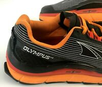Altra Olympus 1.5 Trail Men's Running Shoe Sz 8.5 Orange Black Gaiter Fit - EUC!