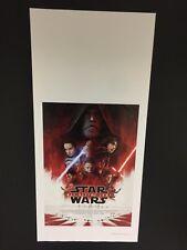 Star Wars Gli Ultimi Jedi Locandina ORIGINALE ITALIANA formato cm 33x70