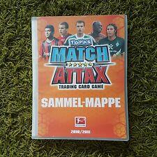 TOPPS Match Attax Sammelmappe BUNDESLIGA 2010/11 komplett + alle Limit.Auflagen