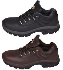 Mens Waterproof Ankle Boots Leather Hiker Trekking Walking Trail Trainer
