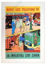 Affiche Offset EVER MEULEN Nancy Jazz Pulastions '83 signée 50x70
