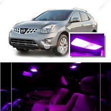 For Nissan Rogue 2008-2013 Pink LED Interior Kit + Pink License Light LED