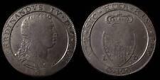 pci781) Napoli regno Ferdinando IV grana 120 piastra 1805 - UNCLEANED