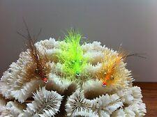 New listing Polar Flash Shrimp Fly 3 Flies size #2 Mustad 34007 Redfish Bonefish Permit