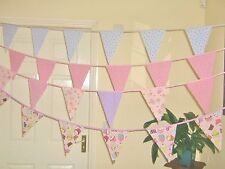 Cupcake Fabric Bunting Decorations Pink Girls Party Bunting 8FT Sewintocrafts