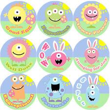 144 Monster Easter Praise Words 30mm Children's Reward Stickers for Teachers
