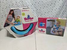 Blue Bumbo Infant Child Feeding Booster Chair – w/ Lap Belt + Tray
