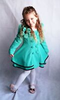New Kids Girl Jacket Coat Dress Autumn Winter Clothes  5-12Years