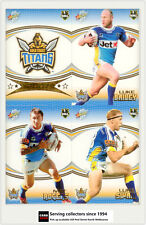 2007 Select NRL Invincible Trading Cards Base Team Set Titans (12)