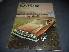 1973 Ford Ranchero Pickup UTE Color Brochure Catalog Prospekt