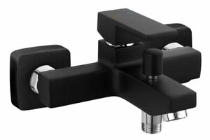 Design Badewannenarmatur Wasserhahn Bad Mischbatterie Badewanne/Dusche schwarz