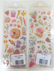 Sailor Moon Crystal Puffy Sticker Sheet SET of 2 Chibimoon Luna Accessories