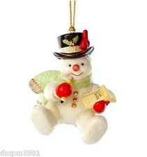Lenox 2014 Making a List for Santa Snowman Ornament with Cardinal NEW IN BOX