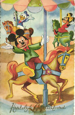PC DISNEY, DONALD DUCK, MICKEY AND MINNIE MOUSE, Vintage Postcard (b27795)