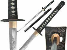 "40"" Straight Ninjato Hand Forge Ninja Sword w/ Dragon Engraved Blade & Ray Skin"