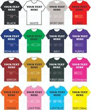 Custom Printed T-Shirts MIX & MATCH Shirt Color/FONTS Small-4X as low as $9.95ea