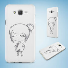 SAMSUNG GALXY J SERIES PHONE CASE BACK COVER|CUTE GIRL SKETCH ART DRAWING #2