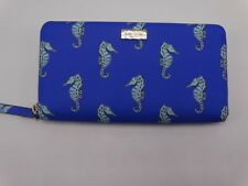 "Kate Spade Neda Zip Around Wallet/Clutch Liberty Street ""Seaponies"" New"
