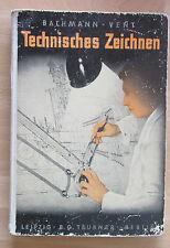 Technisches Zeichnen  1941 Modelle Guss-Teile Stahlbau Normen Zeichenmaschine