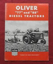"1951 ""THE OLIVER 77 & 88 DIESEL TRACTOR"" SALES BROCHURE VERY GOOD SHAPE"