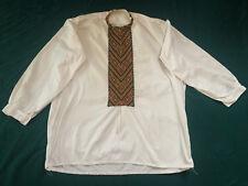 Vintage Ukrainian folk Embroidered men's shirt (№616)